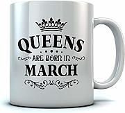 QUEENS Are Born In March Birthday Gift for Women;