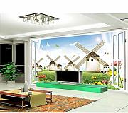 Qwerlp Custom 3D Photo Wallpaper Living Room Mural