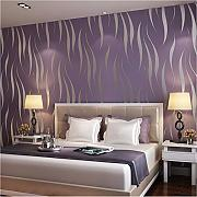 Qwerlp Flocking Non Tessuto Wallpaper Home Decor