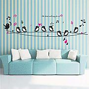 Qwerlp Happy Birds Song Música Pegatinas De Pared