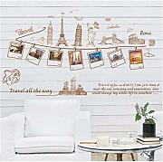 Qwerlp World Travel Photo Frame Pegatinas de pared