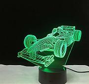Racing Car 3D Night Light Lámpara de mesa 7