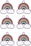 Rainbow Clouds Charms Pendants Jewelry Making