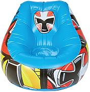 ReadyRoom Power Rangers Sillón Hinchable Infantil, PVC, Multicolor, 78x78x60 cm