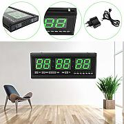 Reloj de pared digital LED de 3 pulgadas con