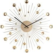 reloj de pared Sunburst dorado