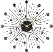 reloj de pared Sunburst negro