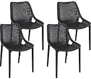 Resol Silla Grid - Color Negro, Set de 4 Unidades