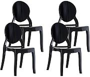 Resol Silla MIA - Color Negro, Set de 4 Unidades