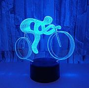 Ride Bike 3D Night Light Led 7 Color Cambiante 3D