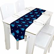 Ropa De Mesa,Cute Blue Whales Seamless Table