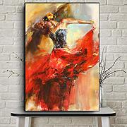 RuYun Abstract Dancing Ballerina Girl Pintura al