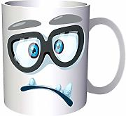 Sad Face With Spectacles 330 ml taza gg515