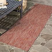 Safavieh Biarritz Indoor/Outdoor Alfombra, Rojo,