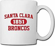 Santa Clara Broncos Ceramic Custom Coffee/Tea Mug