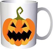 Scary Halloween Pumpkin 330 ml taza q191