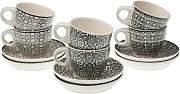Set 6 Tazas Café B&w - Trends Home Selection