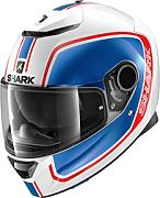 Shark Spartan Priona Casco Blanco Turquesa Azul XL