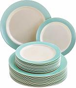 Silver Spoons Turquoise Dinnerware Set VAJILLA