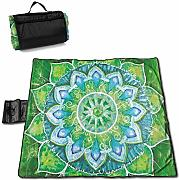 Singledog Manta de Picnic Grand Mandala with Leaf