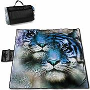 Singledog Manta de Picnic Tiger Safari Cat Wild