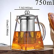 Small Glass Teapot With Stainless Steel Infuser