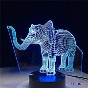 Solo 1 pieza 3D LED Night Light Dance Elephant con