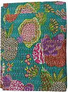 Sophia Art Kantha Quilt Frutas Hecho a Mano Indio