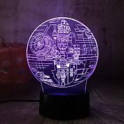 Star Wars Death Star 3D LED Nightlight 7 colores