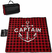Suo Long Captain with A Boat Anchor Picnic Blanket