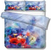 SUPERQIAO Flower Extra Large Quilt Cover Efecto de