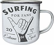 Surfing For Fans 2017 Hand Sign Retro, lata, taza