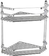 Swedish Chrome 2 Shelf Corner Caddy with 5 Year