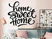 Sweet Home Vinyl Lettering Wall Sticker Dormitorio