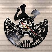 syssyj Chef Reloj de Pared Restaurante Logotipo de