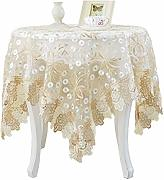 Tablecloth Home Mantel de Encaje, Mantel de Flores