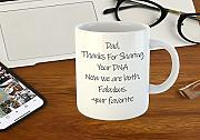 "Taza con texto en inglés""Thanks for Sharing"