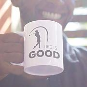 Taza de golf Life Is Good - Regalo divertido para
