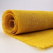 TELA ARPILLERA COLOR AMARILLO 100% YUTE - ANCHO