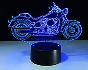 TENDA.FEI 3D Illusion Night Light, motocicleta LED