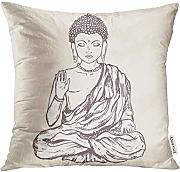 Throw Pillow Cover Beautiful with Buddha Geometric