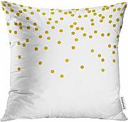 Throw Pillow Cover Green Polka Pattern with Bright