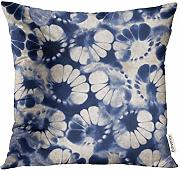 Throw Pillow Cover Patchwork Pattern with Flowers