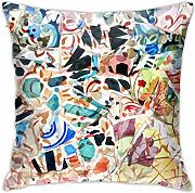 Throw Pillow Covers Home Decor Mosaic of Barcelona