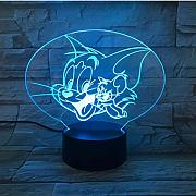 Tom and Jerry Night Light LED Cartoon 7 Color