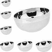 Toygogo 7pcs / Set Steel Bowl De Doble Pared con