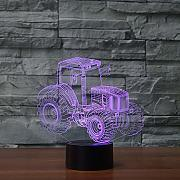 Tractor Shap 3D Night Light LED 7 Color que cambia