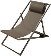 Tumbona/silla de playa plegable de metal topo Split