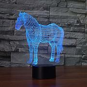 Unicornio 3D Luces Nocturnas LED Colorido USB