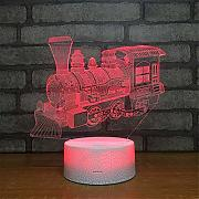 USB alimentado decorativo Train Head 3D Illusion